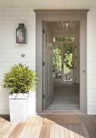 open front door. Grey Door Really Sets Off The Front Entrance. Great Planning: Open And
