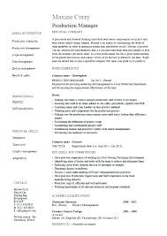 Production Manager Resume Sample Best of Manufacturing Manager Job Description Sample Quality Assurance