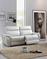 esf 1705 light grey top grain leather sofa with electric recliner contemporary order