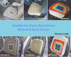 car seat covers crochet car front seat