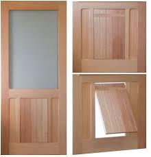 exterior back door with dog door. saranac traditional style screen/storm door. solid wood pet doors. plastic doors exterior back door with dog