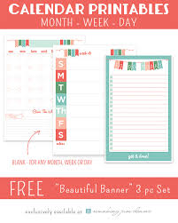 Monthly Weekly Daily Planner Printable Monthly Weekly Daily Planner Rjc 24 7 Moms