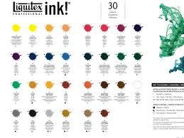 Liquitex Acrylic Ink Color Chart Myb Art Ink Color