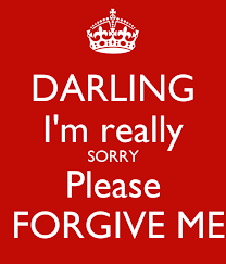 darling i m really sorry please forgive