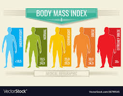 Body Fitness Chart Man Body Mass Index Fitness Bmi Chart With