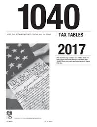 irs 1040 tax table form versions