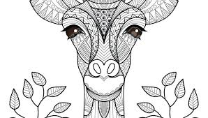 Printable Giraffe Coloring Pages Mycoachcornercom
