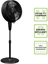 black outdoor misting fan staying cool on a hot day has never been so much fun with the newair af 520b outdoor misting fan add this beautiful and stylish