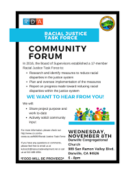 flyers forum racial justice community forum the interfaith council of contra