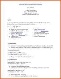 Medical Receptionist Resume Front Desk Sample Examples
