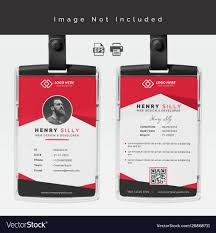 Identity Card Design Id Card Design Template Royalty Free Vector Image
