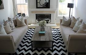 fashionable black and white chevron rug home designing