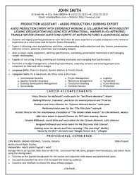 Click Here to Download this Production Assistant Resume Template!  http://www.