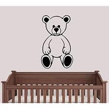 teddy bear wall decor awesome teddy bear for nursery children s rooms kid s vinyl wall