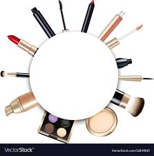realistic makeup frame vector image