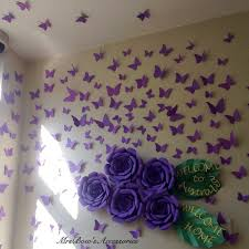 paper butterflies wall installation wall decoration home