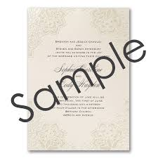 Sample Of Weeding Invitation Shimmering Lace Wedding Invitation Sample