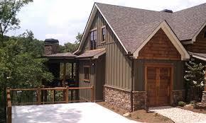 asheville mountain house plan side