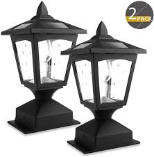 Lamp Post Lights Amazon Solar Post Lights Outdoor Solar Lamp Post Cap Lights For Wood Fence Posts Pathway Deck Pack Of 2