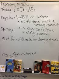 tor th grade english today students worked on constructing conclusion statements for their argument essays students used the following template to guide their writing