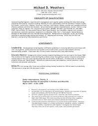 Aerospace Engineering Resume Aerospace Process Quality Engineer