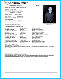 Dance Performance Template Resume For College Outline Samples Yoga