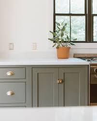 Light Sage Green Kitchen Cabinets Sage Green Kitchen Cabinets With Brass Handles Modern