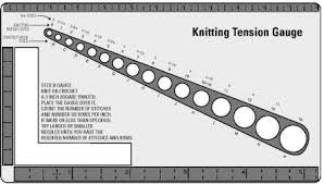 Knitting Stitches Per Inch Chart Calculating Gauge In Knitting