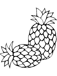 pineapple drawing color. pineapple-fruits-coloring-pages-10 pineapple drawing color