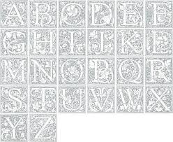Illuminated Letters Coloring Pages Illuminated Letters Coloring