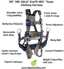 Dbi Sala Exofit Size Chart 1113190 Exofit Nex Tower Climbing Harness Qc Qc