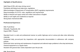 Truck Driver Resume Resume Resume Objective Examples Driver