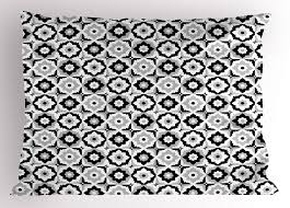 Black and white ceramic tile floor Checkerboard Get Quotations Quatrefoil Pillow Sham Black And White Ceramic Tile Design With Floral Ornaments Alibabacom Cheap Black And White Ceramic Tile Floor Find Black And White