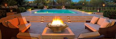 fire bowl blazing by newly renovated pool area fire and water bowls n49