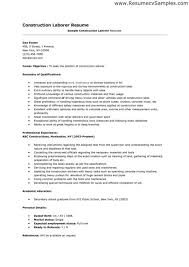 Resume Laborerample Labor Readyidemcicek Com Captivating With