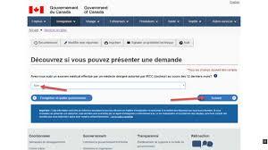 présenter une demande de visa visiteur canada en ligne