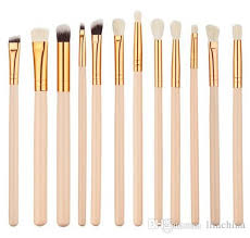 rose gold multifunctional makeup brush set eyeshadow eye brushes tool also used as cheeks jaw line chin brushes eyeshadow base eyeshadow palettes from