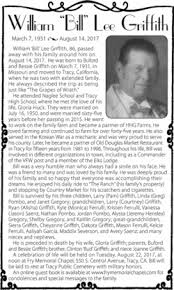 """William Lee """"Bill"""" Griffith (1931-2017) - Find A Grave Memorial"""