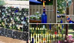 Decorative Wine Bottles Ideas 100 Easy DIY Ideas Decorate Outdoor Space with Wine Bottles 61