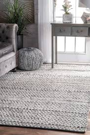 rug 9 ft round area rug fresh rugs usa silver mentone reversible striped bands indoor