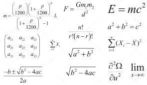 Mathematics And Physics Vector Formulas Layered Editable