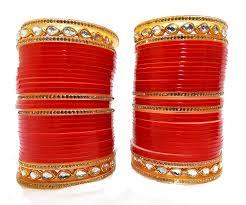 Bridal Bangle Set Designs Samia 1 Red Designer White Kundan Golden Stone Bridal