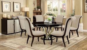 furniture of america cm3353rt 7pc 7 pc ornette espresso and champagne finish wood 60