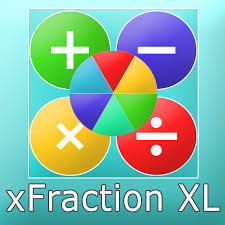 xfraction xl calculator for arithmetic operations with up to 6 fractions addition subtraction