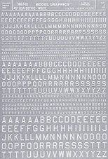 dry transfer decals white gothic letters small d