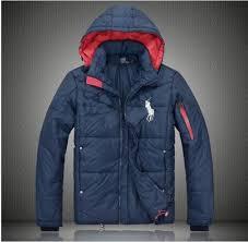 polo ralph lauren men s big pony down jacket blue