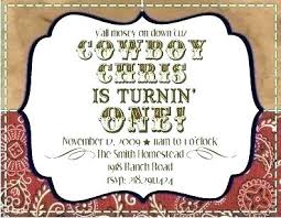 Cowboy Themed Invitations Invitation Cards Maker Download Western