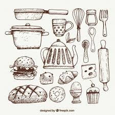 Small Picture Utenslios de cozinha esboado Kitchen utensils Doodles and Logos