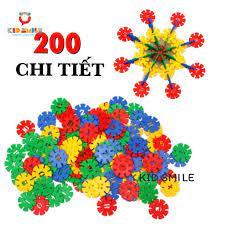Đồ Chơi Trẻ Em Túi Xếp Hình 200 CHI TIẾT Bông Hoa Tuyết Nhựa Nguyên Si –  kidsmile