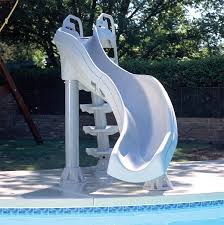 In ground pools with slides Unique Pool Tourourglobesinfo Pool Slides For Your Above Ground Portable Pools